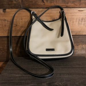 Amanda Smith |  Canvas Satchel Bag w/ brown trim